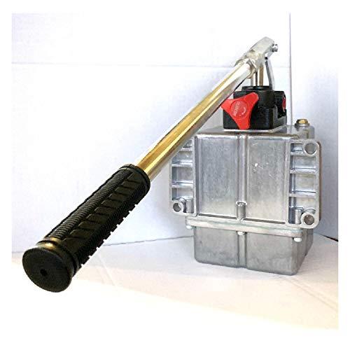 Uzman-Versand 25ccm Hydraulik Handpumpe mit 1 liter Tank + Handhebel, Hydraulikpumpe Hydraulische Hand-hebel-Pumpe Manuell Hydraulikhandpumpe (25ccm Pumpe mit 1 liter Tank)