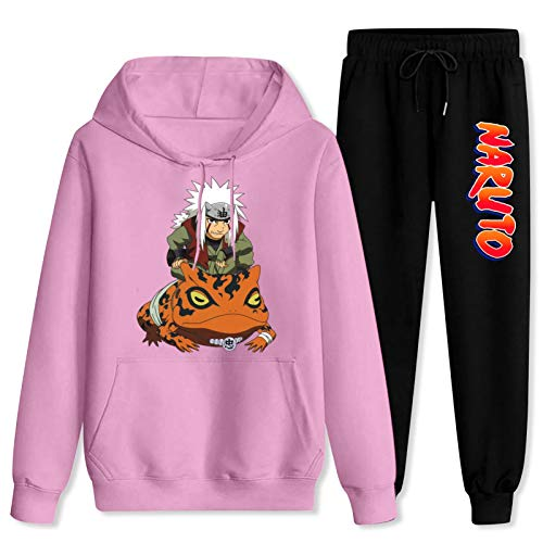 CAPINER Adult Na-ru-to and Ji-rai-ya Tracksuit Sets Hoodies Sweatsuit Sweatpants Outfit Sweater Set for Women Men Women-XL/Men-L