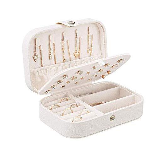 Yolistar Caja Joyero Pequeña, para Anillos, Aretes, Pendientes, Pulseras y Collares,Joyero Viaje Cajas para Joyas Jewelry Organizer para Mujer,Contiene Espejos cosméticos 10X