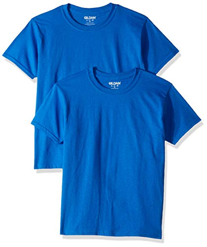 Gildan Kids' Big Ultra Cotton Youth T-Shirt, 2-Pack, Royal, Large