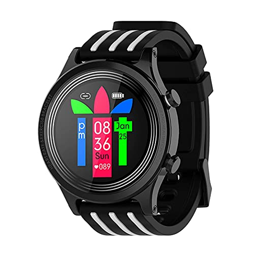 G&UWEI Smart Watch Podómetro Fitness Tracker, Activity Tracker Health Sport Watch Impermeable IP68 Heart with Rate Monitor Sleep, para Mujeres Niños Hombres,Blanco