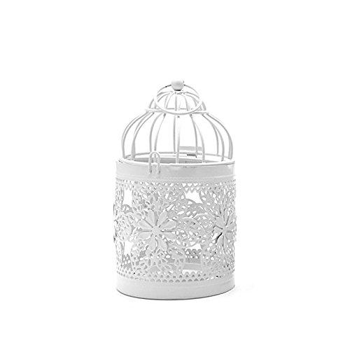 Portavelas de diseño de jaula de pájaros, estilo vintage, portavelas para casa, decoración de boda