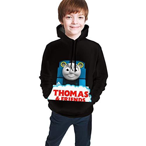 Chimmy95 Beanie Thomas The Tank Engine & Friends Unisex Tee Teen Sweatshirt Teen Hoodies Kinder Hoodie Long Shirt für Teen Hooded Coat mit Tasche(L(14-16))