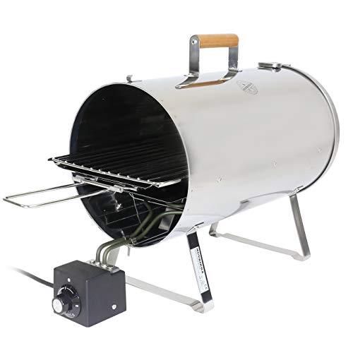 MUURIKKA Horno de ahumar PRO 1100 W, regulable, eléctrico, compacto, de acero inoxidable, para pescado y carne