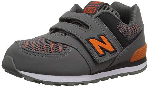New Balance Iconic 574 Hook And Loop, Sneaker con Velcro Unisex per Bambini, Castlerock Beng, 21 EU