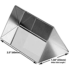 Use this triangular prism to split a beam of light into its spectral components (the colors of the rainbow). Side Length: 1.38 inch / 35mm, More Than Average Width, Stable Handheld. Show your kids a rainbow, or have photography fun. Material: Optic g...