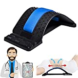 Back Stretcher, Lumbar Back Pain Relief Device, Multi-Level Back Massager Lumbar, Pain Relief for Herniated Disc, Sciatica, Scoliosis, Lower and Upper Back Stretcher Support