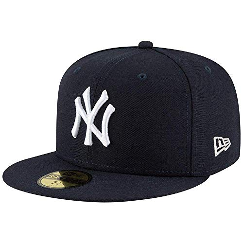 New Era 59FIFTY Gorra para Hombre de los New York Yankees MLB Authentic Collection, Marino, 7.5