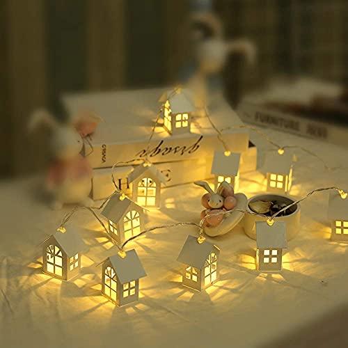 decorazioni natalizie eleganti WULOVEMI Lampada a LED String Lights Nordic Modern Casa Piccola Lampada a Corda Fai da Te Decorazione Firefly Lights Girls Bedroom Fairy Lights Elegante semplicità Luci Natalizie Bianco