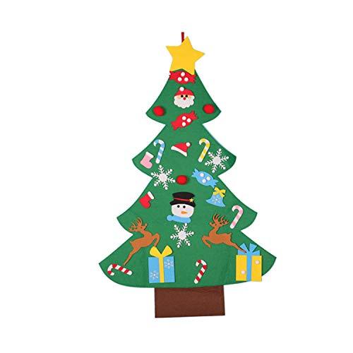 Wohlstand Adornos extraíbles Decoración para Colgar en la Pared Puerta Decoración navideña Regalos 3 pies DIY Decoración navideña Colgante para niños Luces LED