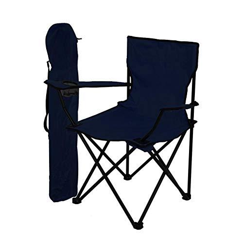 Silla de Pesca Silla de Camping Plegable Silla portátil con Dos portavasos Silla de jardín Ultraligera Silla Plegable portátil para Pesca al Aire Libre Playa