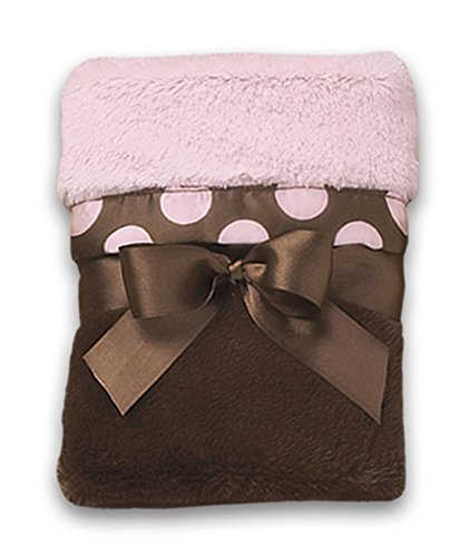 Couverture de sécurité snob de points de rose de bébé de Bearington