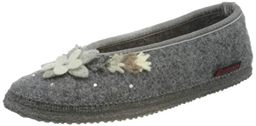 GIESSWEIN Filzpantoffel Lechbruck - geschlossene Damen Hausschuhe im Ballerina Design | Warme Filz Pantoffeln aus 100% Wolle | leichte Filzhausschuhe