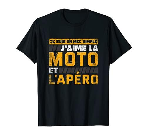T-shirt Motard Homme Moto Cadeau Motorcycle Motards T-Shirt