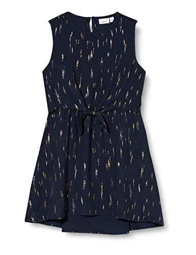 NAME IT meisjes NMFRITALINA SL DRESS CAMP jurk, blauw (Dark Sapphire Dark Sapphire), (fabrikantmaat: 122)
