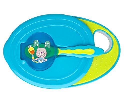 Rotho Babydesign 306490230BD eetkom met deksel en lepel, aquamarijn/appelgroen