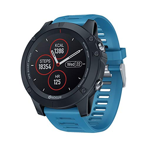 Zeblaze VIBE 3 GPS Smart Watch Heart Rate Multi Sports Mode Waterproof Long Time Standby GPS Smartwatch para Android/iOS (azul)