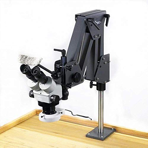 Microscope Gem Diamond Setting Machine with Stand Micro Inlaid Mirror Multi-directional Micro Setting Microscope Jewelry Tools