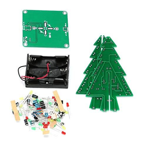 Jiobapiongxin JBP-X LED-Weihnachtsbaum-Set, 3D-Weihnachtsbaum, Rot/Grün/Gelb LED Lichteffekt/Schneeflocken