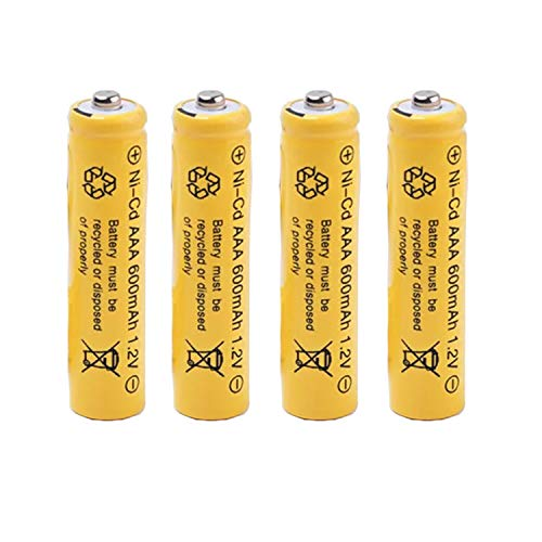 Ni-cd AAA 600mAh 1.2V Triple A Rechargeable Batteries for Solar Lights Outdoor Garden Lamp 4Pcs