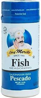 Chef Merito Fish Seasoning Sazonador Para Pescado 14 oz I Flavor Seasoning for all Fish Dishes from Smoked Salmon, Tilapia...
