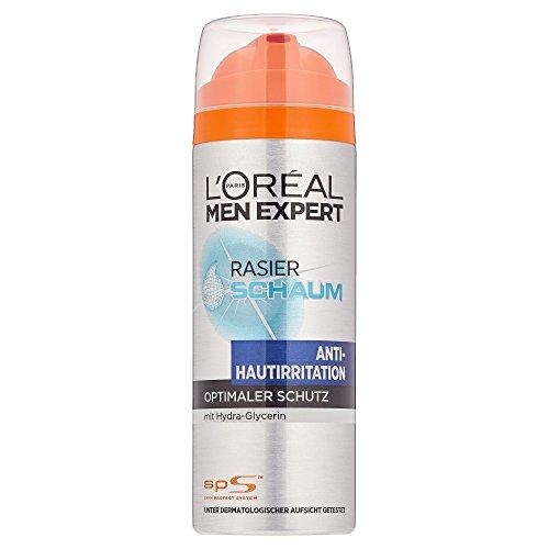 L'Oréal Men Expert Rasierschaum Hydra Energy Anti-Hautirritation, Rasier-Schaum Antie-Stoppel-Effekt, Schaum mit pflegender Wirkung, 200 ml