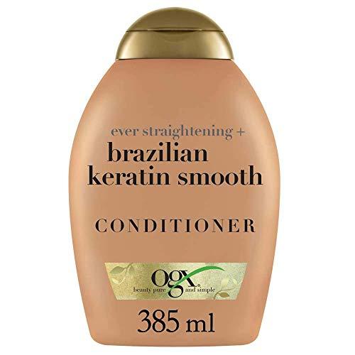 OGX Acondicionador sin Sulfatos para el Pelo Rizado, Keratina Brasileña, 385 ml