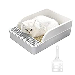 qingqingxiaowu Litter Tray Cats Cat Litter Mat Rabbit Litter Tray Self Clean Litter Box Cat Toilet Self Cleaning Cat Litter Tray Corner Litter Tray Cat