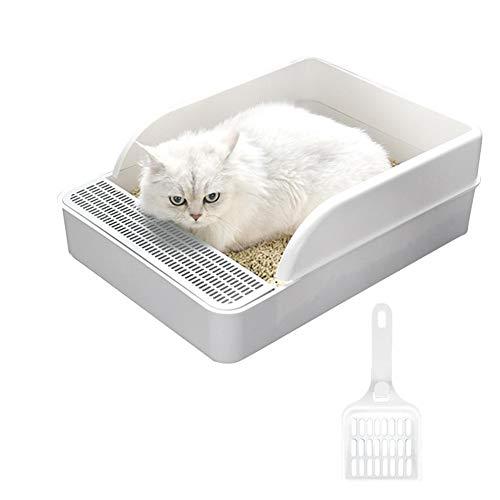 BOENTA Arenero Gatos PequeñO Gatos Accesorios Arenero Arenero Grande para Gatos Arenero Gato Arenero Cubierto Gatos Arenero para Gatos Arenero Gatos Autolimpiable White