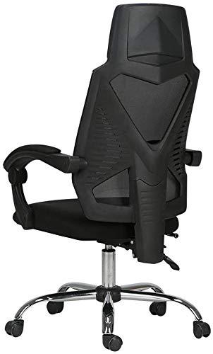Sessel GSN Tilted Bürostuhl mit Fußbank, Schreibtisch-Computer-Stuhl, 155 ° Liegenden Funktion, Body Balance Technik/Reduziert Fatigue (Color : Balck)
