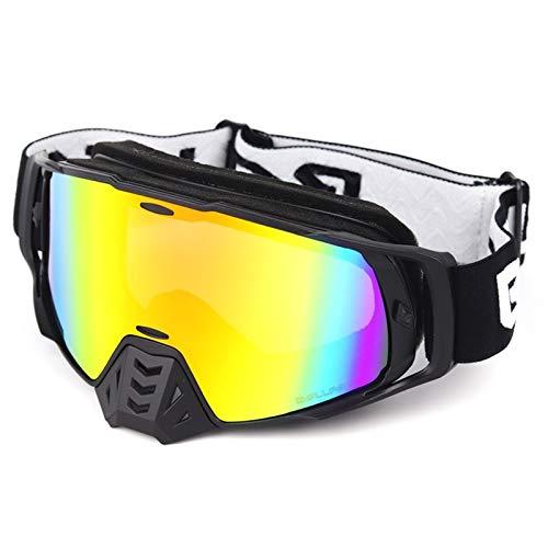 HCMAX バイク ゴーグル レーシングモトクロス眼鏡 - 防塵/防風/紫外線対応 ヘルメット対応 男女兼用 収納バッグ付き - モトクロススキースノーボード用 COOL STYLE