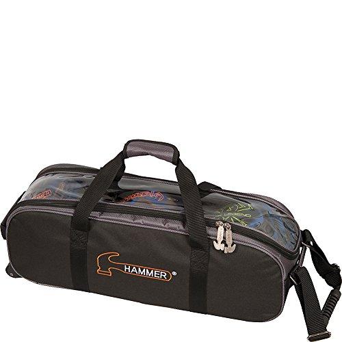 fx bowling bags Hammer Premium Triple Tote Bowling Bag, Black/Carbon