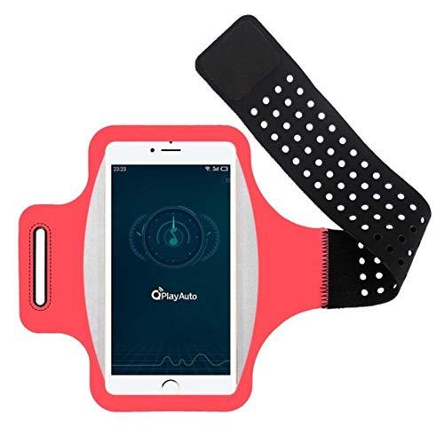 UKKD Brazalete para TeléFono MóVil, Adecuado para iPhone se 2020 XS XR X 7 8 6s Plus 11 Pro MAX Brazalete Deportivo, Bolso para Brazo para TeléFono MóVil con Llavero y Ranura para Tarjeta.-Pink