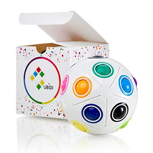 CUBIDI® großer Regenbogenball mit 20 Kugeln - Geschicklichkeitsspiel Erwachsene und Kinder - spannendes Lernspiel und Knobelspiele für Kinder Mädchen und Junge