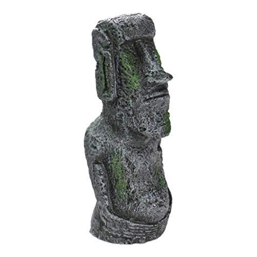 Pascua Mejor decoración para el hogar! Estatua de Cabeza de Isla de Pascua de Beisoug Decorada con Resina