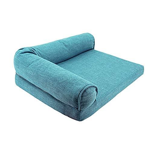 Ryan hondenbed, slaapbank voor huisdieren, voor baby's in de winter, warm en warm (maat: L/XL), XL, Blauw