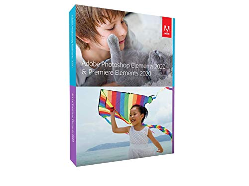 Adobe Photoshop Elements 2020 & Premiere Elements | Professional |1 Appareil | Perpétuel | PC | Mac | Android etc | Disque