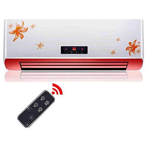 ZHUYUE Snelle elektrische wandverwarming voor het huishouden, PTC-verwarming, 8H timer, waterdichte ventilator voor airconditioning voor badkamer met 1250W/2500W afstandsbediening