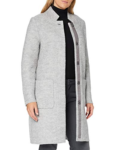 TOM TAILOR Damen Boucle Mantel Jacke, Mid Grey Melange, M EU