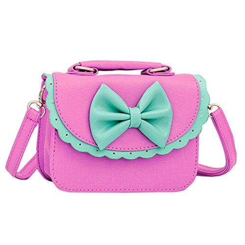 Happy Cherry Handtasche, Schultertasche, für Kinder, Mädchen, aus PU-Leder, mit...