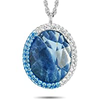 Swarovski Oval Rhodium-Plated Necklace