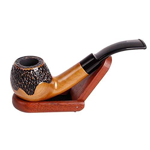 緑のサンダルウッドパイプ(刻みタバコ喫煙用)ビギナー用 シガー 煙管 たばこ パイプ 喫煙 シガー 煙管 タバコ フィルターパイプ 喫煙具 パイプ用品 メンズ ビジネス贈り物 プレゼント (01)