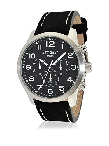 JET SET Damen Analog Quarz Uhr mit Leder Armband J64803-217