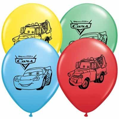 Creative Wholesaler Disney Cars Balloons 12' Pixar Latex Party Supplies Birthday 1 2 3 Decorations Lightning McQueen Tow Mate Mater Rayo, Package of 20 Assorted Set