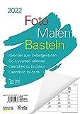 Foto-Malen-Basteln A4 weiß Notice 2022: Bastelkalender zum Selbstgestalten. Edler Fotokalender mit festem Fotokarton und Platz für Geburtstage/Notizen Do-it-yourself!