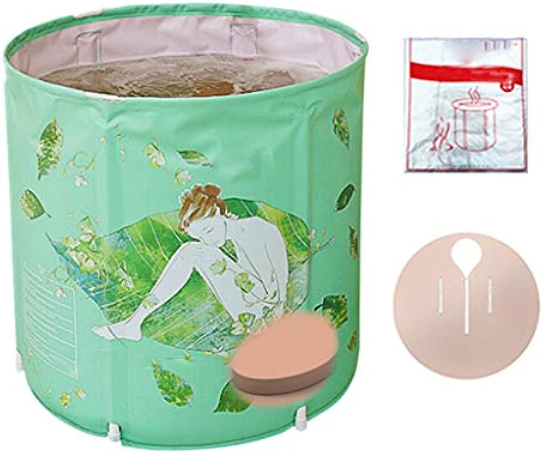 KANGSHENG Erwachsene faltende Badewanne-Ausgangskinderbadewannen-Plastikeinfache Badewanne verlsst 70  65 (Farbe   D)