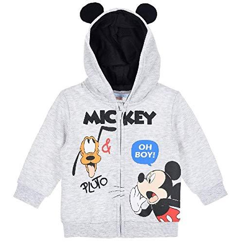 Felpa con cappuccio Disney Mickey Mouse per bambino Pluto Oh Boy! Grigio 12 Mesi