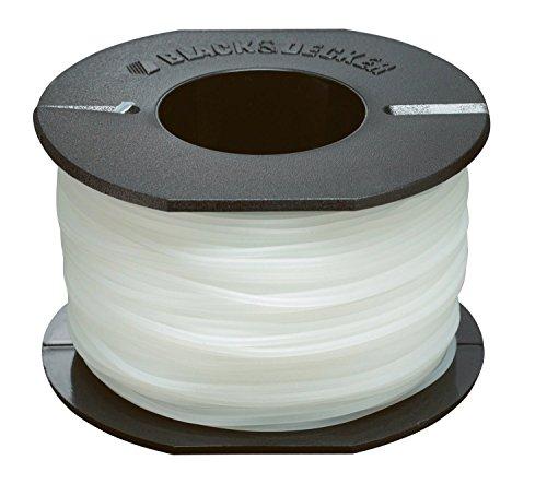 BLACK+DECKER Bobine de Rechange pour Coupe-Bordures, 50 m de Fil en Nylon Transparent et Résistant, Fil de ⌀1,5 mm, A6171-XJ
