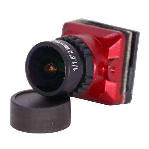 Absir FPV Kamera 1 / 1.8 800TVL HD CCD 2.1mm 5MP OSD Taste DC 5-.30V NTSC PAL Einstellbarer Winkel Umschaltbare Kamera Für RC Quadcopter Drone rot