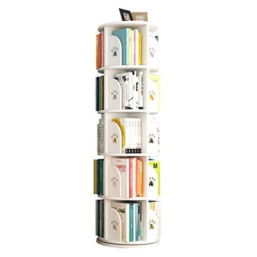 Librerie Girevole Bambini Regolabile in Altezza Stimola l'interesse dei Bambini per la Lettura Assembla Il reggilibro (Color : Bianca, Size : 50.5 * 159cm)